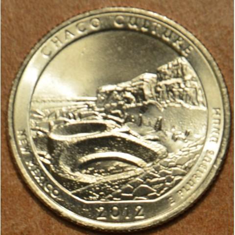 "25 cent USA 2012 Chaco Culture ""D"" (UNC)"