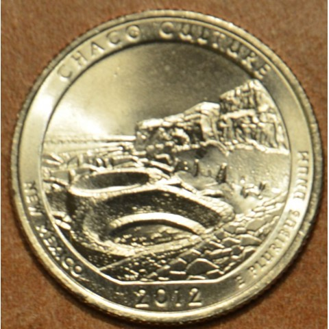 "25 cent USA ""D"" 2012 Chaco Culture (UNC)"