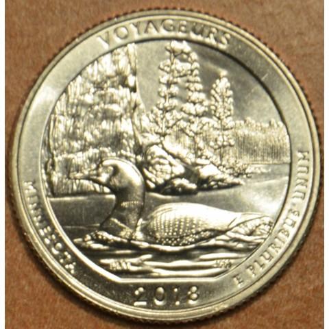 """25 cent USA 2018 Voyageurs """"D"""" (UNC)"""