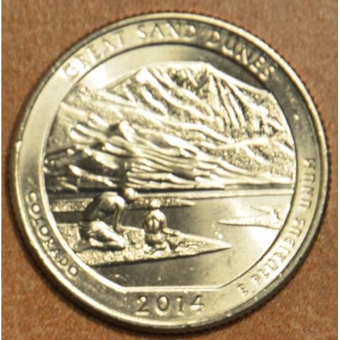 """25 cent USA 2014 Great Sand Dunes """"D"""" (UNC)"""