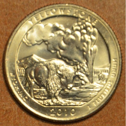 "25 cent USA 2010 Yellowstone ""D"" (UNC)"