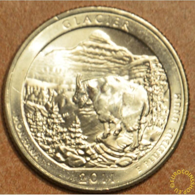 """25 cent USA """"D"""" 2011 Glacier (UNC)"""