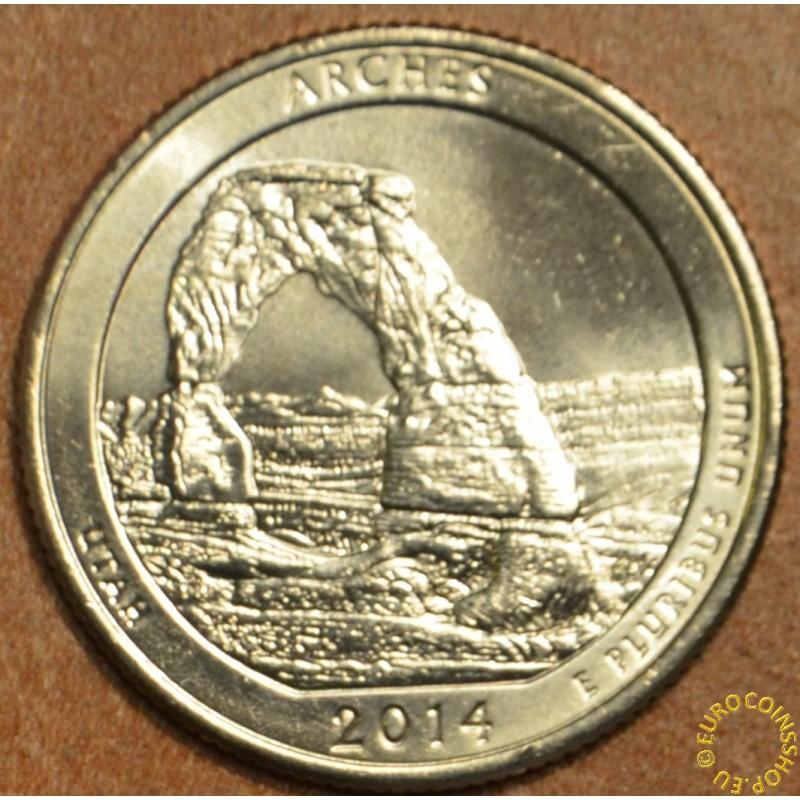 """25 cent USA """"D"""" 2014 Arches (UNC)"""