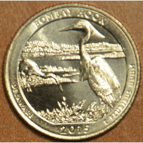 "25 cent USA 2015 Bombay Hook ""D"" (UNC)"