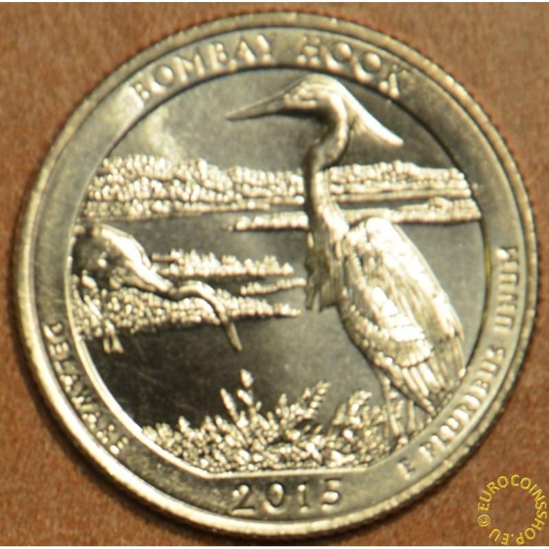 "25 cent USA ""D"" 2015 Bombay Hook (UNC)"