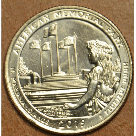"25 cent USA 2019 American Memorial Park ""D"" (UNC)"