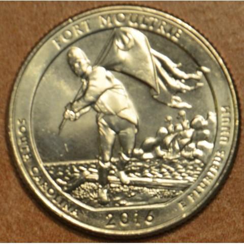 "25 cent USA 2016 Fort Moultrie ""D"" (UNC)"