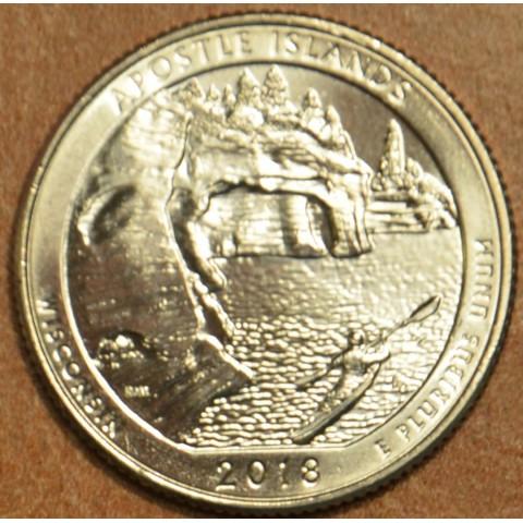 """25 cent USA 2018 Apostle Islands """"D"""" (UNC)"""