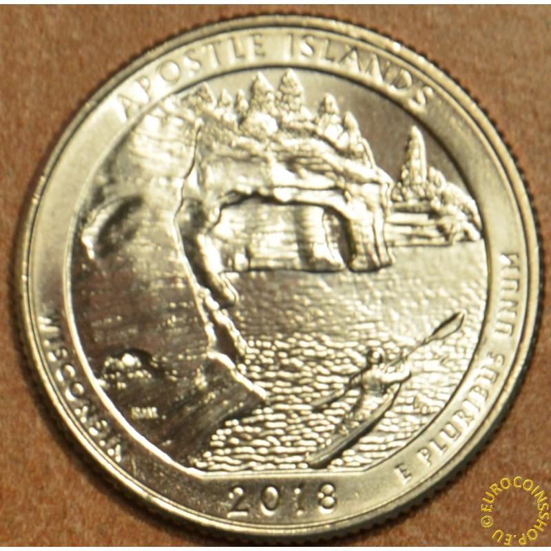 """25 cent USA """"D"""" 2018 Apostle Islands (UNC)"""