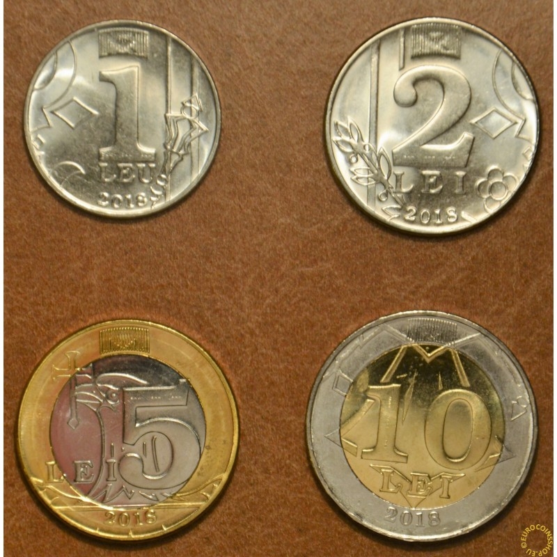Moldova 4 coins 2018 (UNC)