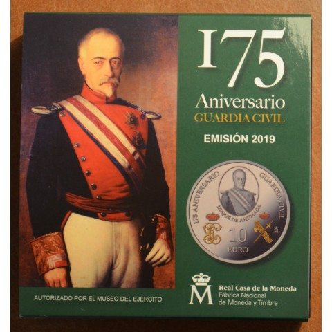 "10 Euro Spain 2019 - 175 years of  ""Guarda Civil"" (Proof)"