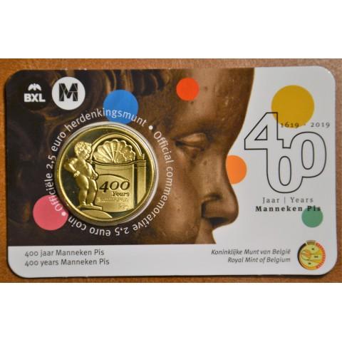 2,5 Euro Belgium 2019 Manneken Pis french text (BU karta)