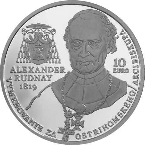 10 Euro Slovakia 2019 - Alexander Rudnay: Archbishop of Esztergom (BU)