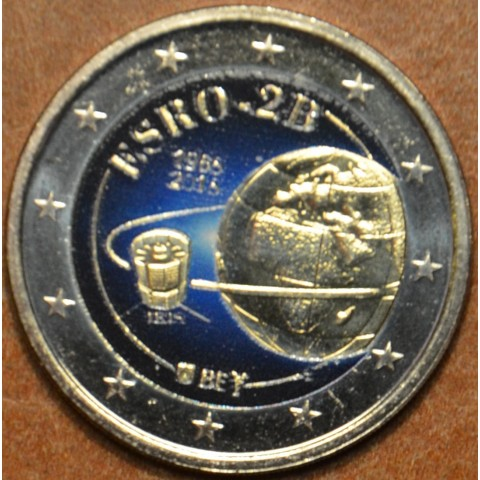 2 Euro Belgicko 2018 - 50 years of the satelite ESRO-2B (colored UNC)