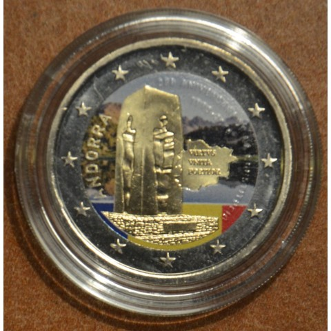 2 Euro Andorra 2018 - 25th anniversary of the Andorran Constitution II. (colored UNC)