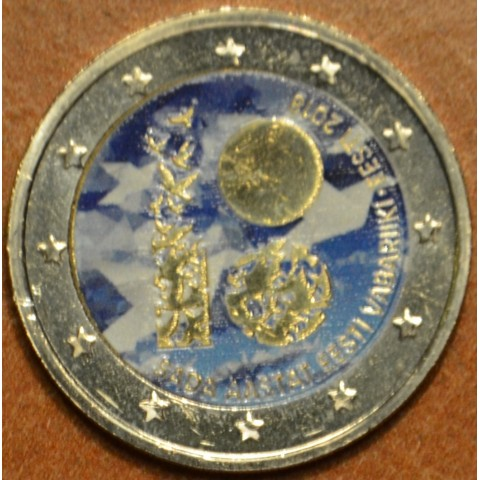2 Euro Estonia 2018 - 100 years of independence III. (colored UNC)