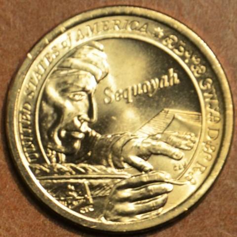 """1 dollar USA """"P"""" 2017 Sequoyah (UNC)"""