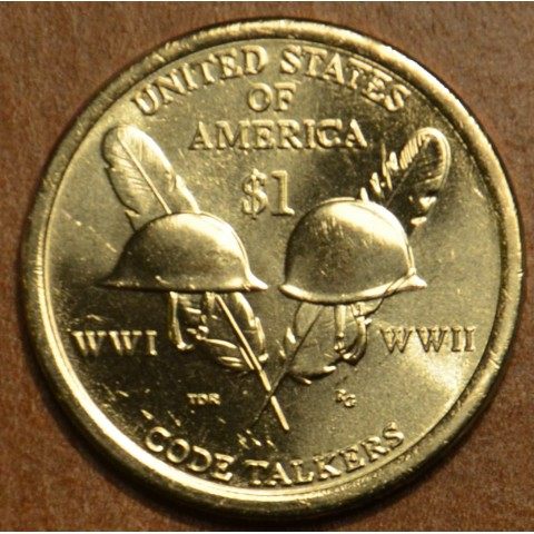 "1 dollar USA ""P"" 2016 Code Talkers from World War I and World War II (UNC)"