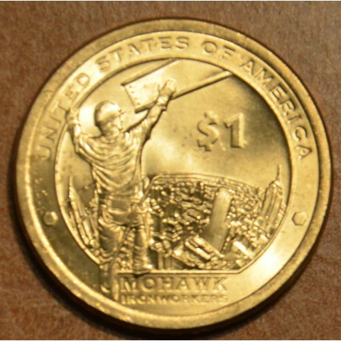 """1 dollar USA """"D"""" 2015 Mohawk Iron Workers (UNC)"""