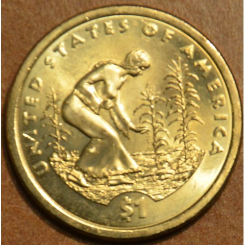 """1 dollar USA """"D"""" 2009 - Spread of Three Sisters Agriculture (UNC)"""