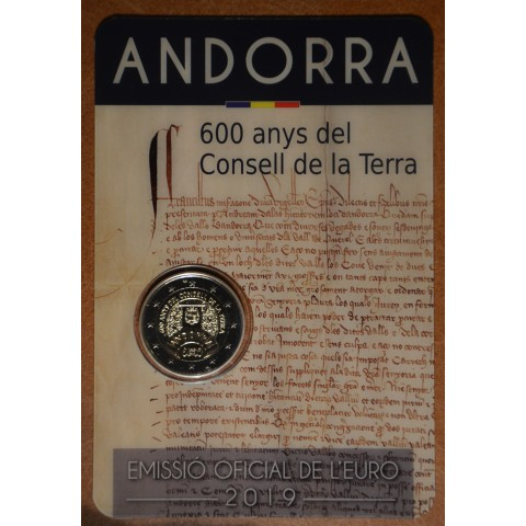 2 Euro Andorra 2019 - 600 years of the Council of the Land (BU)