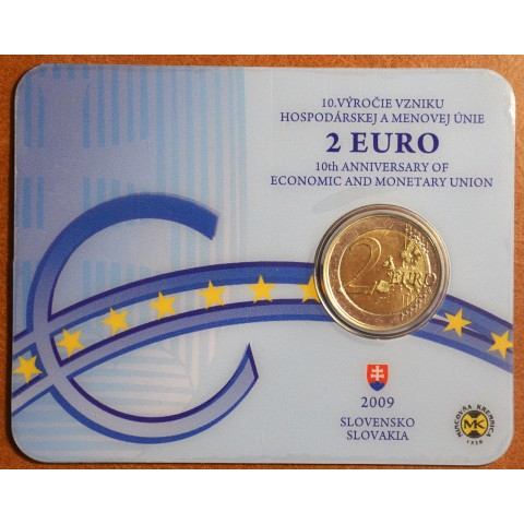 2 Euro Slovakia 2009 - 10th Anniversary of the Introduction of the Euro (BU card)