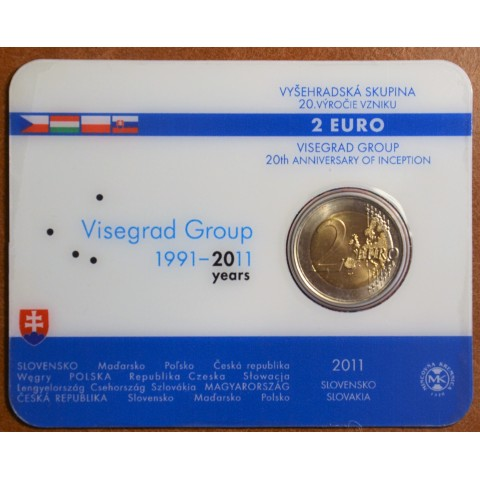 2 Euro Slovakia 2011 - 20th anniversary of the formation of the Visegrad Group  (BU card)