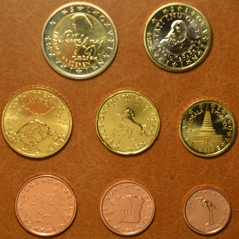 Set of 8 coins Slovenia 2018 (UNC)