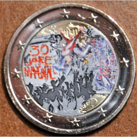 "2 Euro Germany ""F"" 2019 - 30th Anniversary of the Fall of the Berlin Wall (colored UNC)"