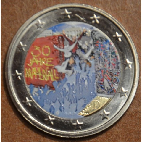 "2 Euro Germany ""G"" 2019 - 30th Anniversary of the Fall of the Berlin Wall (colored UNC)"