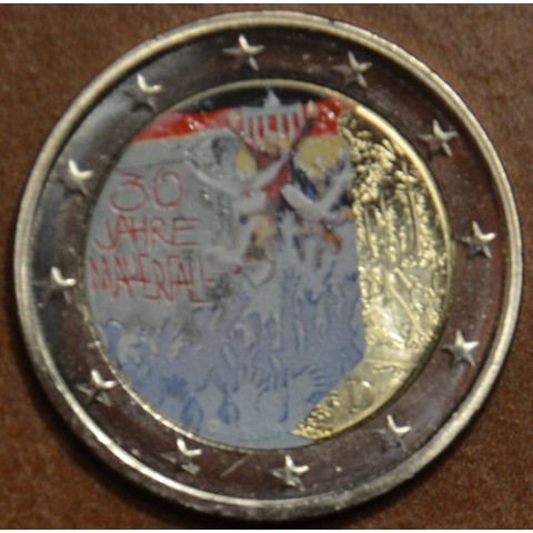 "2 Euro Germany ""D"" 2019 - 30th Anniversary of the Fall of the Berlin Wall (colored UNC)"