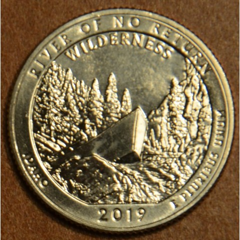 "25 cent USA 2019 River of no return ""P"" (UNC)"
