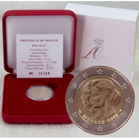 2 Euro Monaco 2011 - The wedding of Prince Albert and Charlene Wittstock (BU)