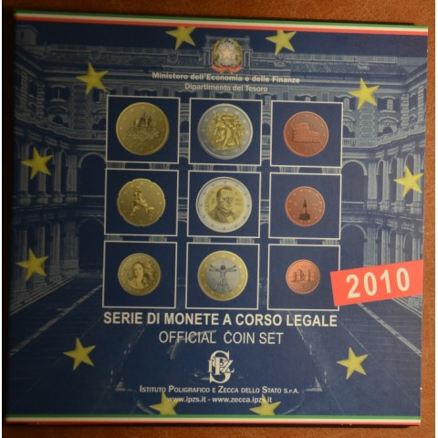 Italy 2010 set with commemorative 2 Euro coin (BU)