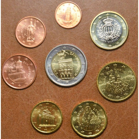 Set of 8 eurocoins San Marino 2004 (UNC)