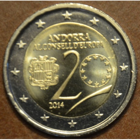 2 Euro Andorra 2014 - Admission to Council of Europe (UNC)