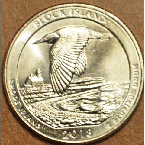"""25 cent USA """"P"""" 2018 Block Island (UNC)"""