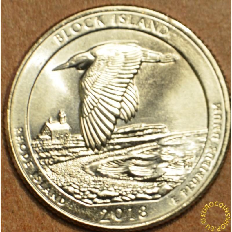 "25 cent USA ""D"" 2018 Block Island (UNC)"