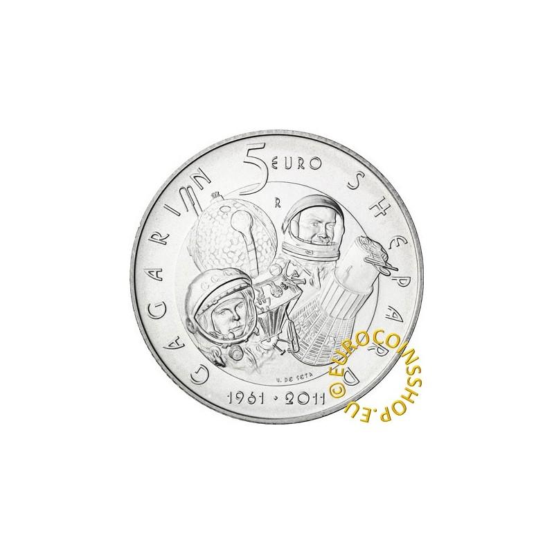5 Euro San Marino 2011 - Gagarin - Shepard (BU)