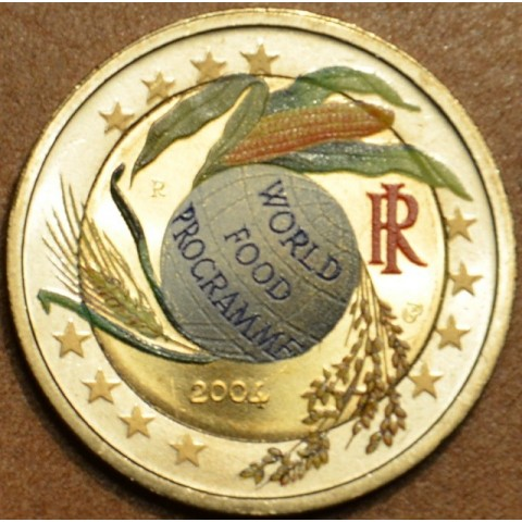 2 Euro Italy 2004 - Fifth Decade of the World Food Programme (colored UNC)