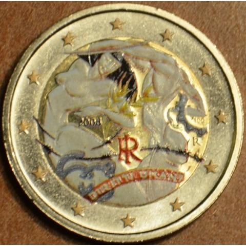 2 Euro Taliansko 2008 - 60. výročie Všeobecnej deklarácie ľudských práv (farebná UNC)