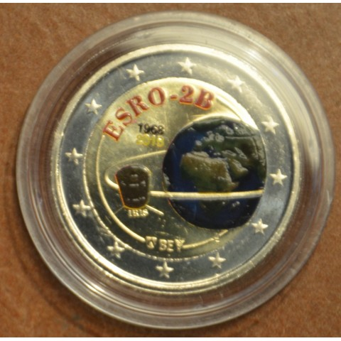 2 Euro Belgicko 2018 - 50 years of the satelite ESRO-2B IV. (colored UNC)