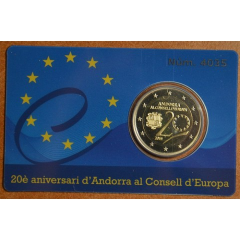 2 Euro Andorra 2014 - Admission to Council of Europe (Proof)