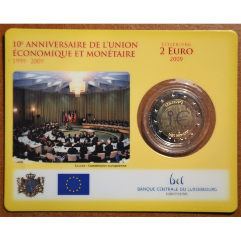 2 Euro Luxembourg 2009 - 10th Anniversary of the Introduction of the Euro (BU)