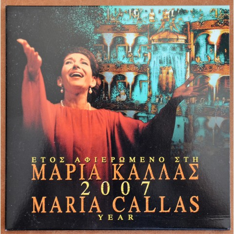 Greece 2007 coins set Maria Callas (BU)