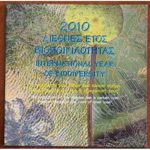 Greece 2010 set Biodiversity with 10 Euro Ag coin (BU)