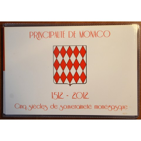 2 Euro Monaco 2012 - The 500th anniversary of the foundation of Monaco's Sovereignty with stamp (UNC)