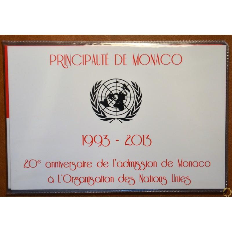 2 Euro Monaco 2013 - 20th Anniversary of UN Membership with stamp (UNC)