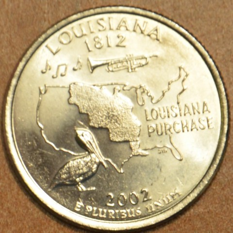 "25 cent USA 2002 Louisiana ""P"" (UNC)"
