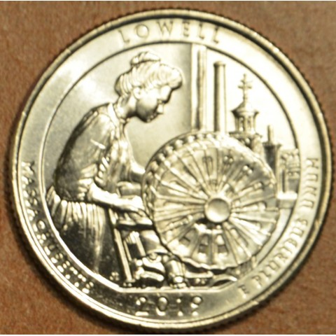 """25 cent USA 2019 Lowell """"P"""" (UNC)"""
